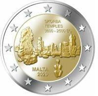 2 Euro Gedenkmünze Malta 2020 Tempel Skorba