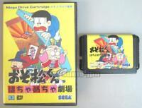 "SEGA MEGA DRIVE MD GENESIS "" OSOMATSU KUN "" BOXED JAPAN"
