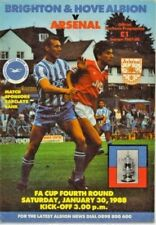FOOTBALL PROGRAMME - F.A. CUP 4th ROUND - BRIGHTON AND HOVE v ARSENAL 1988