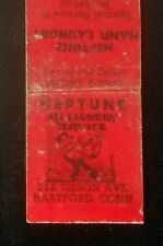 1930s Advertizit Match Neptune Hand Laundry Special to Bachelors Hartford CT MB
