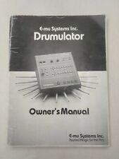 Rare Original Emu Drumulator  Drum Machine manual