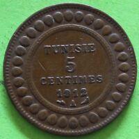 TUNISIE 5 CENTIMES 1912 A