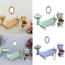 1:12 Doll House DOLLHOUSE MINIATURE Mini Furniture Ceramic Bathroom Model DIY