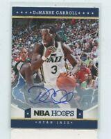 DEMARRE CARROLL 2012-13 Panini NBA Hoops Rookie Auto Autograph #142 Utah Jazz