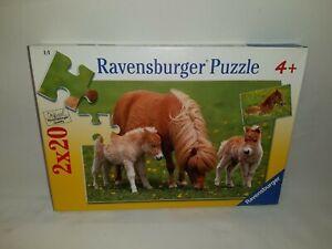 2 x 20 Pièces de Puzzle - Mignon Poneys - Ravensburger
