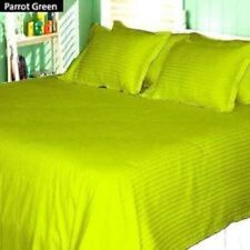 Sheet Set Parrot Green Striped Choose Size's 1000 Thread Count 100% Egyp Cotton