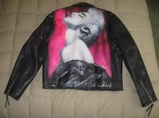 1992 LA Roxx Leather Biker Jacket Madonna True Blue Album Airbrush Artist Signed