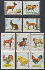 Fujeira 1972 Mi.1295/04 fine used c.t.o. Tiere Animals Fauna Hahn Cock Rind