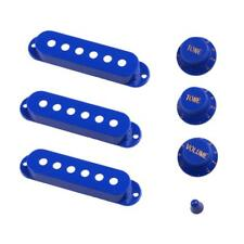 3pcs Pickup Covers+3pcs Knobs+1pc Toggle Tip for Electric Guitar Parts Blue