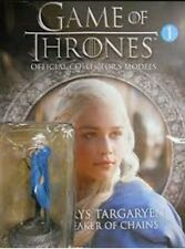 GAME OF THRONES official HBO collectors model DAENERYS + 12 page MAGAZINE