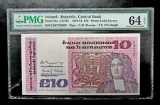 Ireland Republic Central Bank 10 Pounds 1978-81 Pmg 64