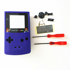 Super Bros. Super Mario Housing Shell for Nintendo Game boy Color GBC - Blue