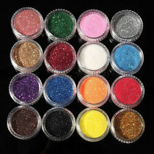 16 Mixed Color Glitter Powder Makeup Eyeshadow Eye Shadow Cosmetics Salon Set