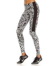 NIKE LEG-A- SEE WOMEN'S  JUST DO IT PALM TIGHTS BLACK/WHITE SZ S #739967-NWT