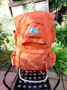 Metal Framed Vintage Backpack  Orange Made in Japan day bag hiking