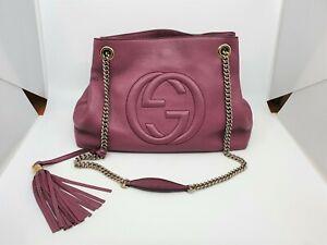 GUCCI Soho Tote Leather Shoulder Bag