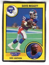1991 David Meggett - Kenner Starting Lineup Card - Slu - New York Giants