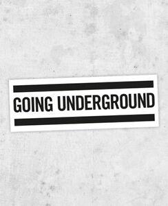 The Jam inspired Sticker! 'Going Underground'  Setting Sons, Paul Weller, Mod,