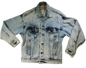 Vintage Levi's Trucker Denim Jean Jacket Men's Sz Small Acid Stone Wash USA