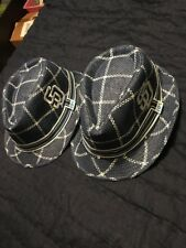 San Diego Padres 2 Blue Fedora Hat Cox Giveaway Size 7 3/8 Lot Set