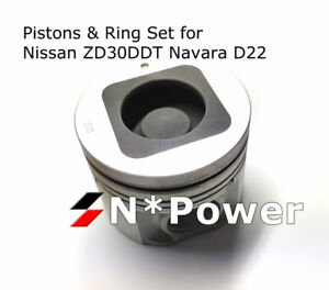 PISTON & RING SET STD FOR NISSAN ZD30DDT NAVARA D22 01-08, PATROL 00-07 ZD30DDTi