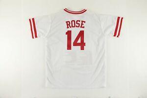 Pete Rose AUTOGRAPHED Limited Edition Statistics Cincinnati Reds Jersey