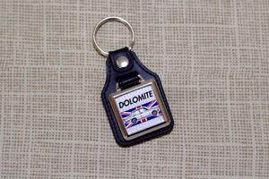 Triumph Dolomite Keyring - Leatherette & chrome keytag