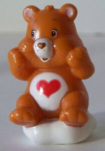 """Care Bears Tenderheart Bear 2.5"""" Figure (Sitting With Both Hands At Cheeks)"""