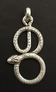 Ciondolo Serpente Gioiello Tibetano Creation Unico Siver Argento 3 - 5571