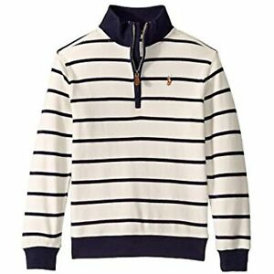Polo Ralph Lauren Boys' Cotton 1/2-Zip Pullover Sweater, Ivory, Size 7, $50, NwT