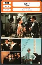BUGSY - Beatty,Bening,Keitel,Levinson (Fiche Cinéma) 1991