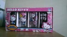 New Sanrio's Hello Kitty 4 Pack Cooler Glasses 15oz