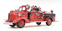 "1938 Ford Fire Engine Truck Metal Desk Car Model 14"" Automobile Automotive Decor"