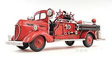 "1938 Ford Fire Engine Truck Metal Desk Car Model 14"" Automobile Automotive Decor"
