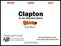 Custom Guitar Lessons, Learn Clapton, 'Beano' Bluesbreakers - DVD Video
