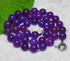 """PURPLE 10MM AFRICA SUGILITE GEMS ROUND BEADS  Gemstones Necklaces 18"""""""