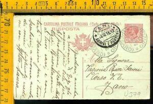 Regno cartolina intero postale Leoni Mondavio Pesaro x Fano U 379