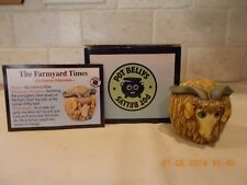 Harmony Kingdom Ball - Pot Bellys - Willie - Farmyard Times Goat - Nib