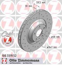 Disque de frein avant ZIMMERMANN PERCE 100.3319.52 AUDI A6 Avant 2.8 FSI 190 210