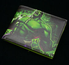 Diffuse marvel comic Super hero The Incredible Hulk leather wallet bifold Purses