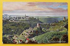 WIEDEMANN Künstler AK Manderscheid 1905-15 Ortsansicht beide Burgen Häuser RP13
