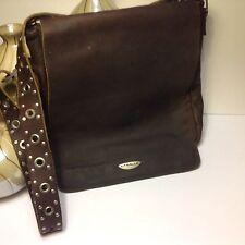 LaSalle Leather Cross-body  Computer Laptop Shoulder Bag Rustic Brown