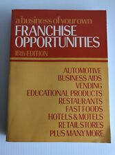 a business of your own Book of Franchise Opportunities 1985 Sterling Publishing