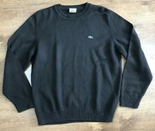 Lacoste Sweater Jumper Knit Cotton Blend Brown 5 Large