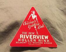 set of 2 Riverview Roller Rink Sticker Chicago Il