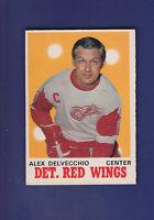 Alex Delvecchio HOF 1970-71 O-PEE-CHEE OPC Hockey #157 (EX+) Detroit Red Wings