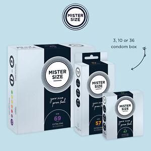 MISTER SIZE Profilatici Pacco Preservativi Condoms Slim Ultra Sottili Extra Thin