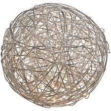 Drahtkugel 30 cm Außenleuchte 50 Leds Außendekoration Designerleuchte Ball #