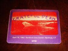 Rare Vintage GRATEFUL DEAD BACKSTAGE PASS Hartford, CT Civic Center 4/18/1982