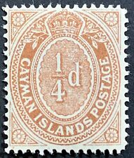 Cayman Islands, Scott #31, 1/4p Numeral, Mint Hinged, Very Fine